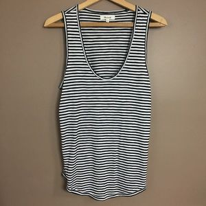 [Madewell] Black & White striped tank top - small